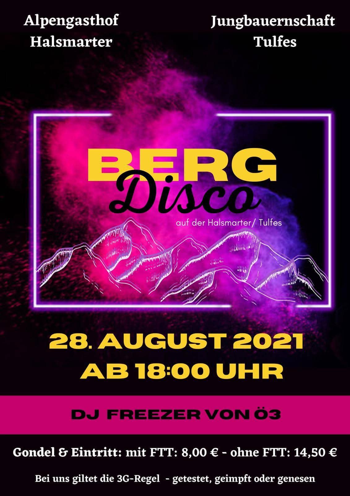 Bergdisco mit DJ FREEZER von Ö3
